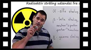 Alfa, beta og gamma stråling