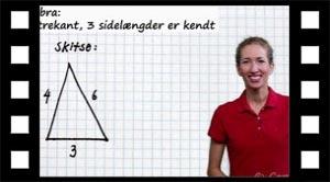 Konstruktion af trekant med tre kendte sidelængder