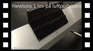 Newtons 1. lov på luftpudebane