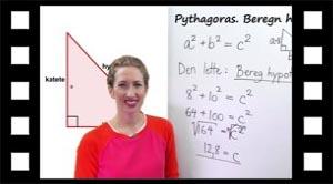 Hvordan en hypotenuse sidelængde beregnes med Pythagoras
