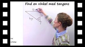 Trigonometri tangens find vinkel