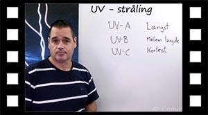 UV - A, B og C stråling