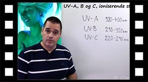 UV-strålingens bølgelængder