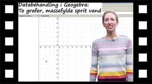 Efterbehandling i Geogebra af sprit og vand forsøg.