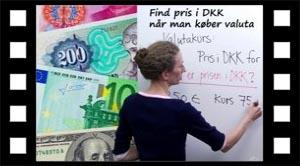 Hvad koster 250 euro i dkk