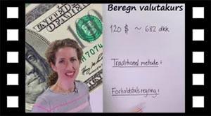 Forholdstalsregning, Beregn dollarkurs