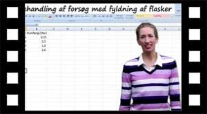 Fyldning af flasker i Excel