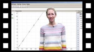 Tyngdekraft databehandling i Geogebra
