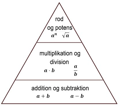 Regningsarternes hierarki