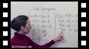 Eksempler på ligningsløsning