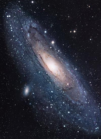 Den nærmeste galakse, Andromeda galaksen.