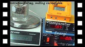 Vands varmefylde med data