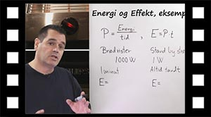 Energi og effekt, beregninger