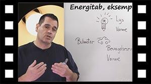 Energitab, eksempler