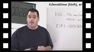 Energi, kilo watt time, kWh