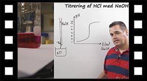 Titrering af HCl med NaOH