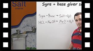 Syre + base bliver til salt