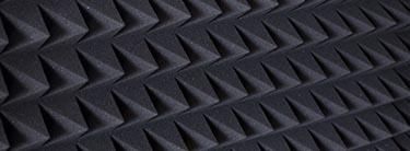 Materiale som absorberer lyd – bruges i lyd døde rum.