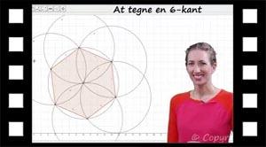 Konstruktion af en sekskant med passer eller Geogebra