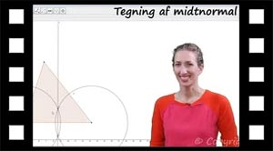 Hvordan tegnes midtnormal med en passer eller med Geogebra?